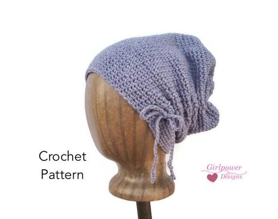 Scrunch Hat Easy Crochet Pattern Worsted Weight Yarn Slouchy Etsy