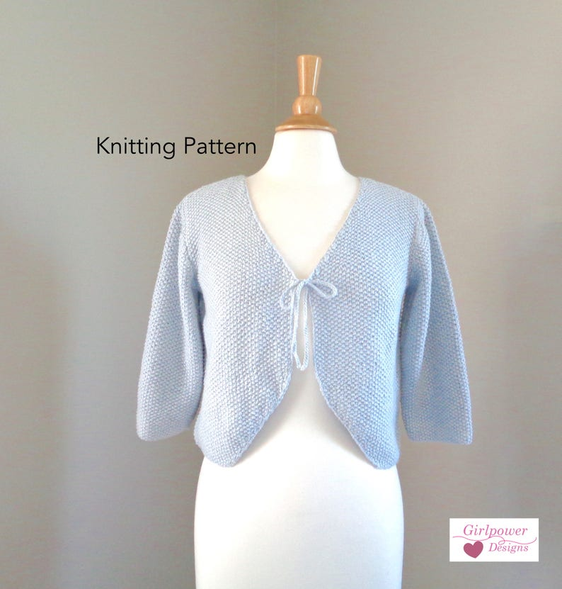 5ae4f7e51 Bolero Shrug Knitting Pattern Cropped Cardigan Sweater