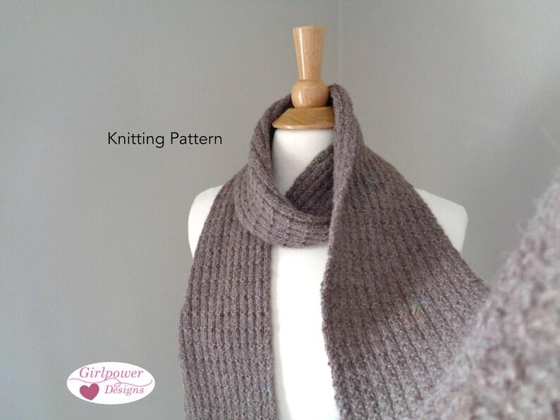 Buster Brown Scarf Easy Knit Knitting Pattern Men Women Etsy