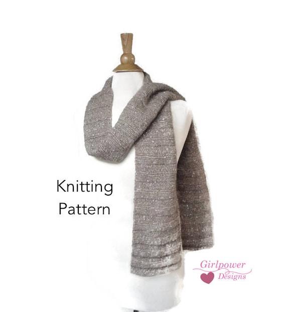 Chunky Knit Scarf Pattern Lengthwise Ribbed Scarf Sideways Etsy