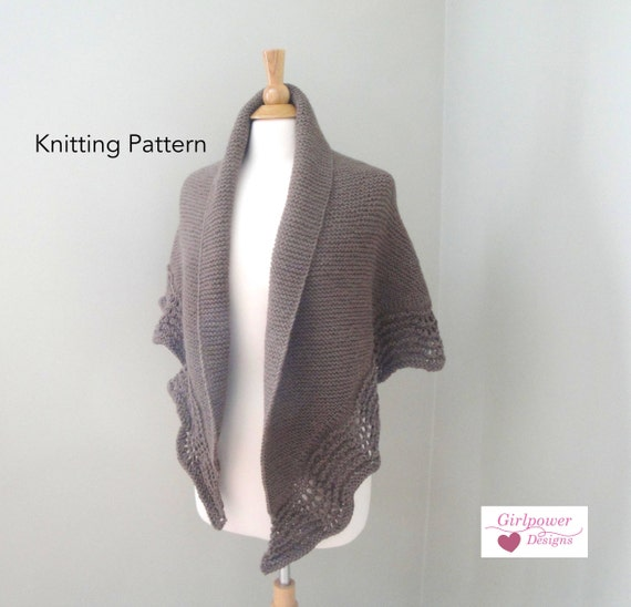 Latte Shawl Knitting Pattern Half Circle Shawl Wrap Garter Etsy