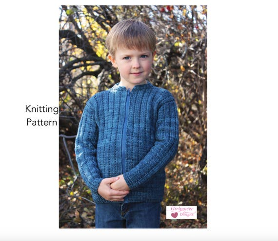 Boys Sweater Knitting Pattern Rib Pattern Long Sleeves Etsy
