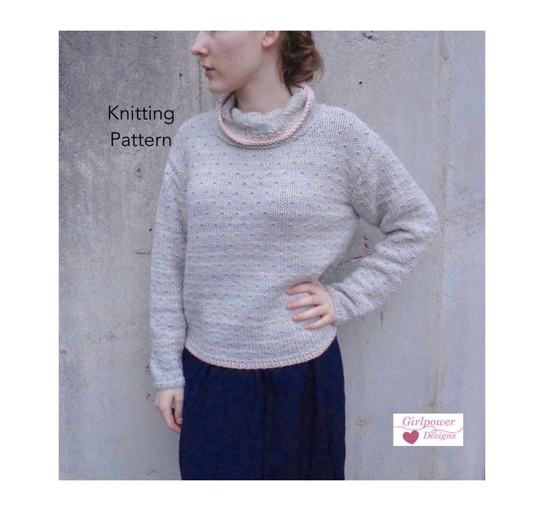 0d47e922b5cf18 Pullover Sweater Knitting Pattern Chunky Yarn Cowl Neck