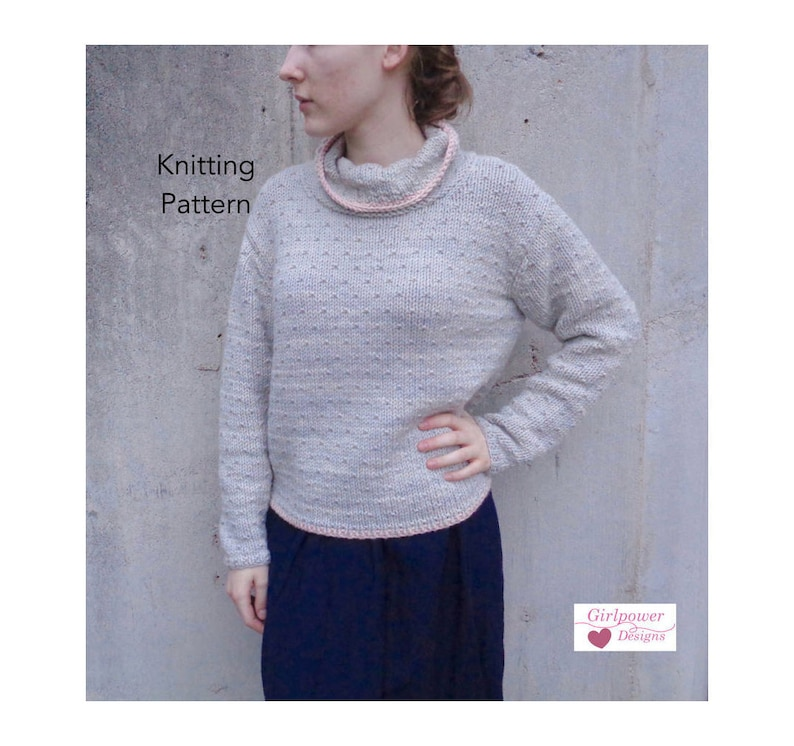 Pullover Sweater Knitting Pattern Chunky Yarn Cowl Neck Etsy