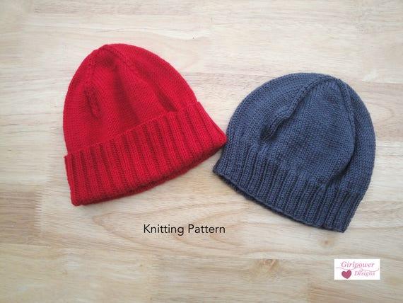 Watch Cap in 2 Lengths PDF Knitting Pattern Hat Beanie Light  02d3a0a8467