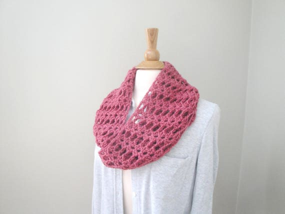 Lacy Cowl Scarf Crochet Pattern Infinity Scarf Pattern Quick Easy