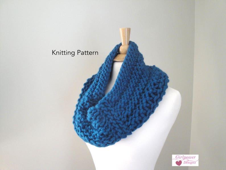 Chunky Cowl Scarf Knitting Pattern Knit Cowl Pattern Neck Etsy