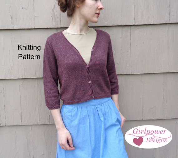 3 Season Cardigan Sweater Knitting Pattern Classic Cardigan