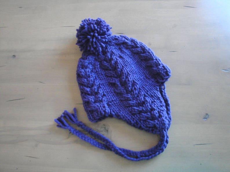 Earflap Hat Knitting Pattern Super Bulky Yarn Quick Easy ...