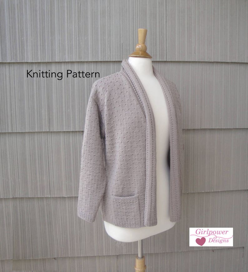 16f99ad6a Drape Collar Sweater Knitting Pattern Knit Cardigan Sweater