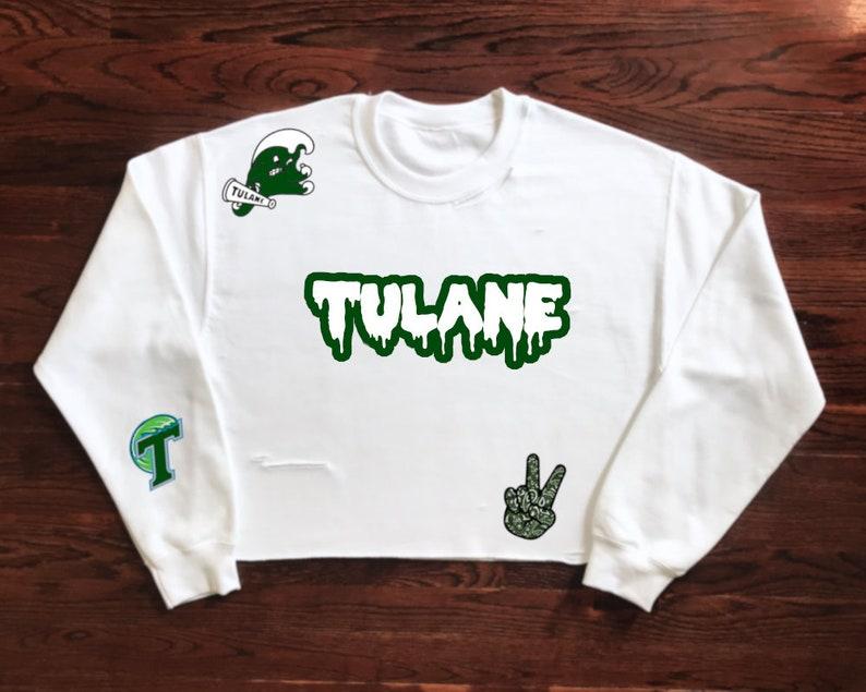 485e60a871 Tulane University Green Wave Crewneck Sweatshirt   Tailgate