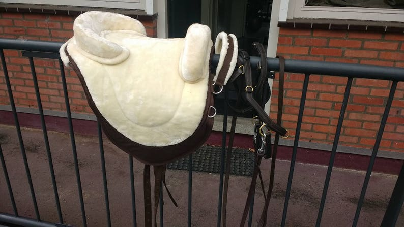 Mini pony Luxury treeless bareback pad vegan english style saddle