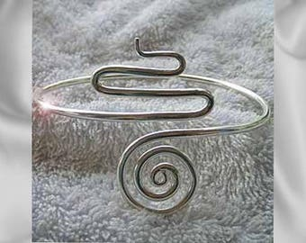 Arm Band Body Jewellery - Hand Made in Solid Silver - Adjustable armbands. Stunning Snake design.