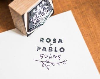 "Custom Stamp Kit ""Suma"" + ink + pad"