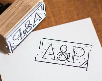 "Custom Stamp Kit ""stars"" + ink + pad"