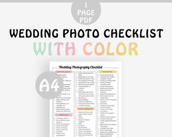 photograph about Printable Wedding Photography Checklist titled Wedding day photograph record MINIMALIST program all of your marriage ceremony