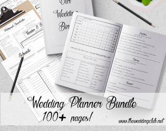 wedding budget planner 2018 budget planner wedding planner etsy