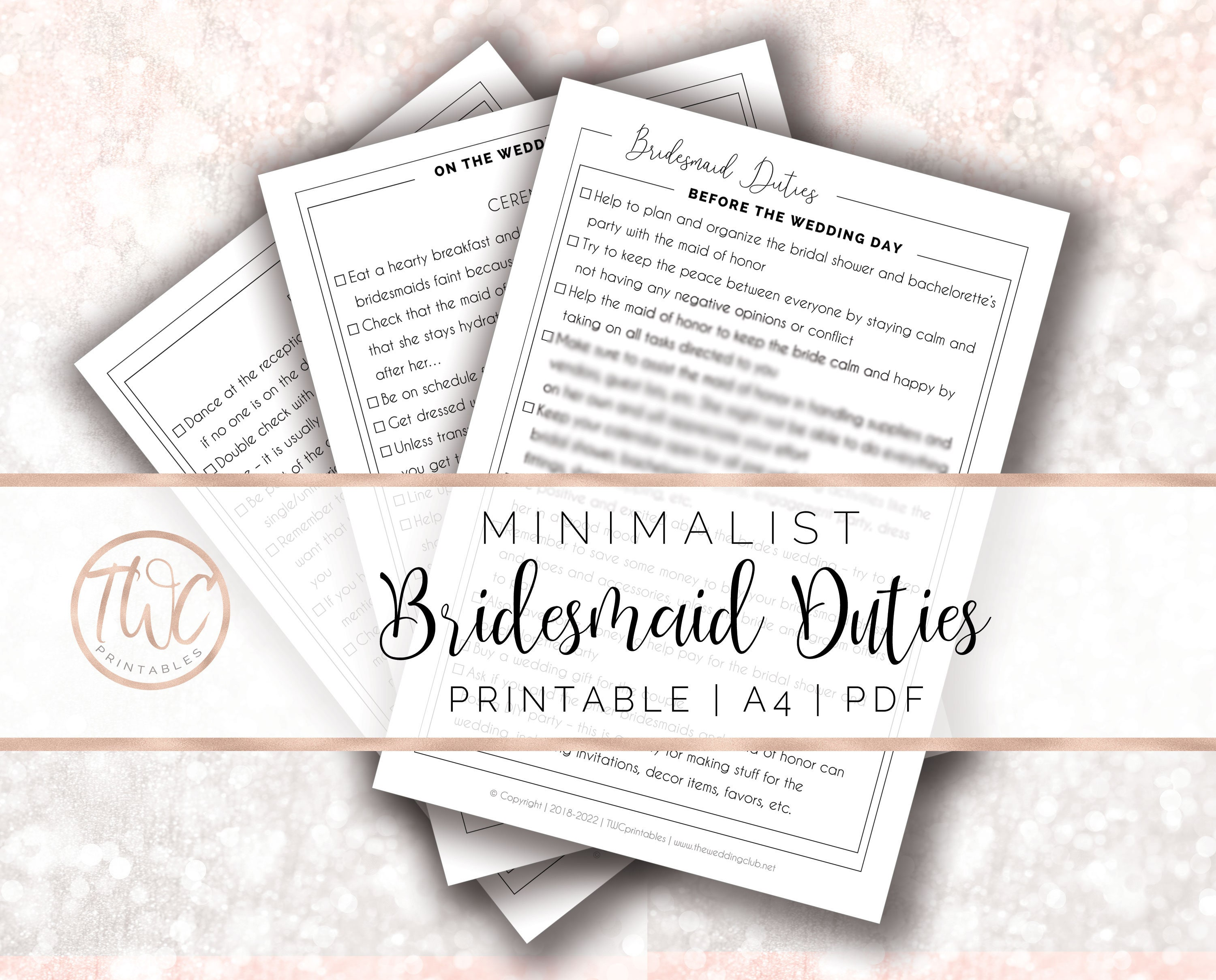 Bridesmaid Duties Bridesmaid List Of Duties Bridesmaid