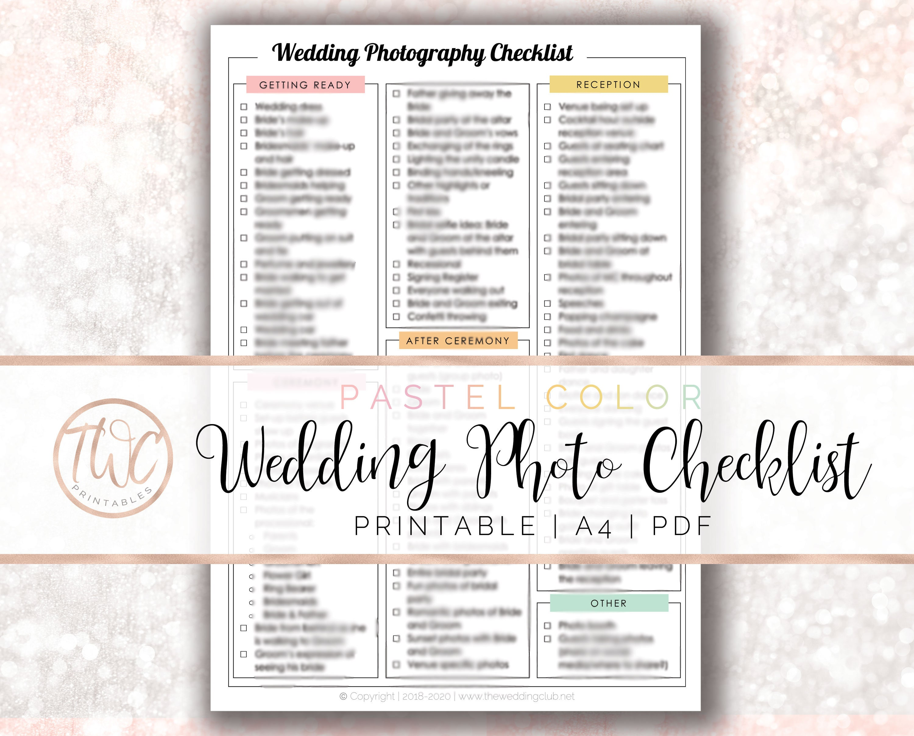 photo relating to Printable Wedding Photography Checklist identify Wedding day Pictures Think about Listing