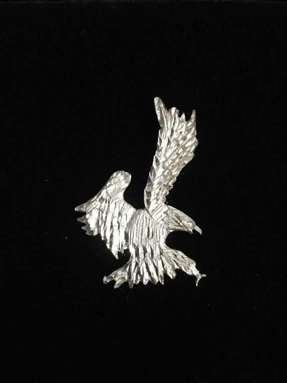45mm Silver Yellow Plated Eagle Charm