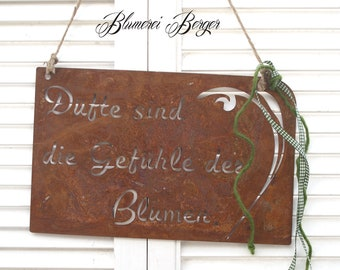"""Rusty garden sign """" Scents are... """""""