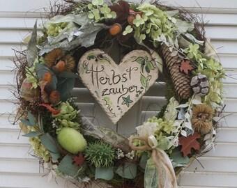 """Autumn door wreath """" Potter's Heart """""""