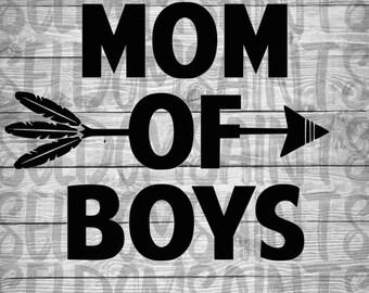 Mom Of Boys SVG, Mama of boys, Mom of Boys Cricut, Mom of Boys Silhouette