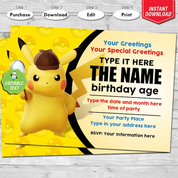 POKEMON PERSONALISED BIRTHDAY CARD ANY NAME AGE RELATION