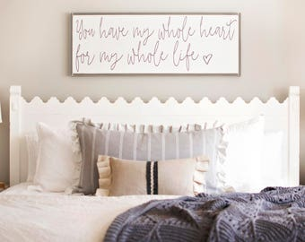 Over The Bed Wall Decor Master Bedroom Metal
