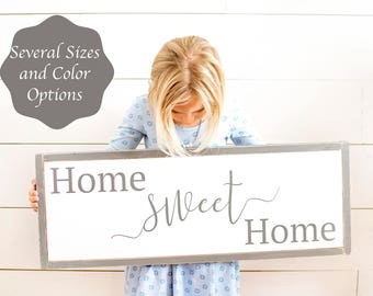 Home Sweet Home sign, home sweet home, home signs, sweet home sign, home sweet home wood sign