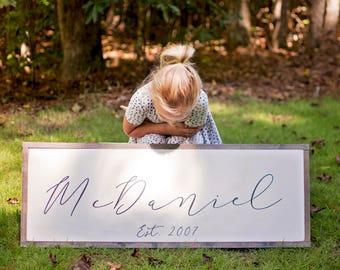 Family Name Sign | Last Name Sign | Custom Name Sign