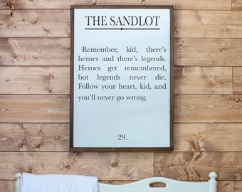 Boys Room Signs | Sandlot Quote Sign | Book Page Sign | Boys Room Sign