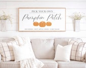 Fall Signs Pumpkin Patch Sign Pick Your Own Pumpkin Autumn Signs Halloween Sign Fall Wood Sign Framed Wood Signs