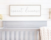 Sweet Dreams Sign Above Crib Sign Sign For Above Crib Sweet Dreams Wood Sign Sweet Dreams Nursery Sign Framed Wood Signs