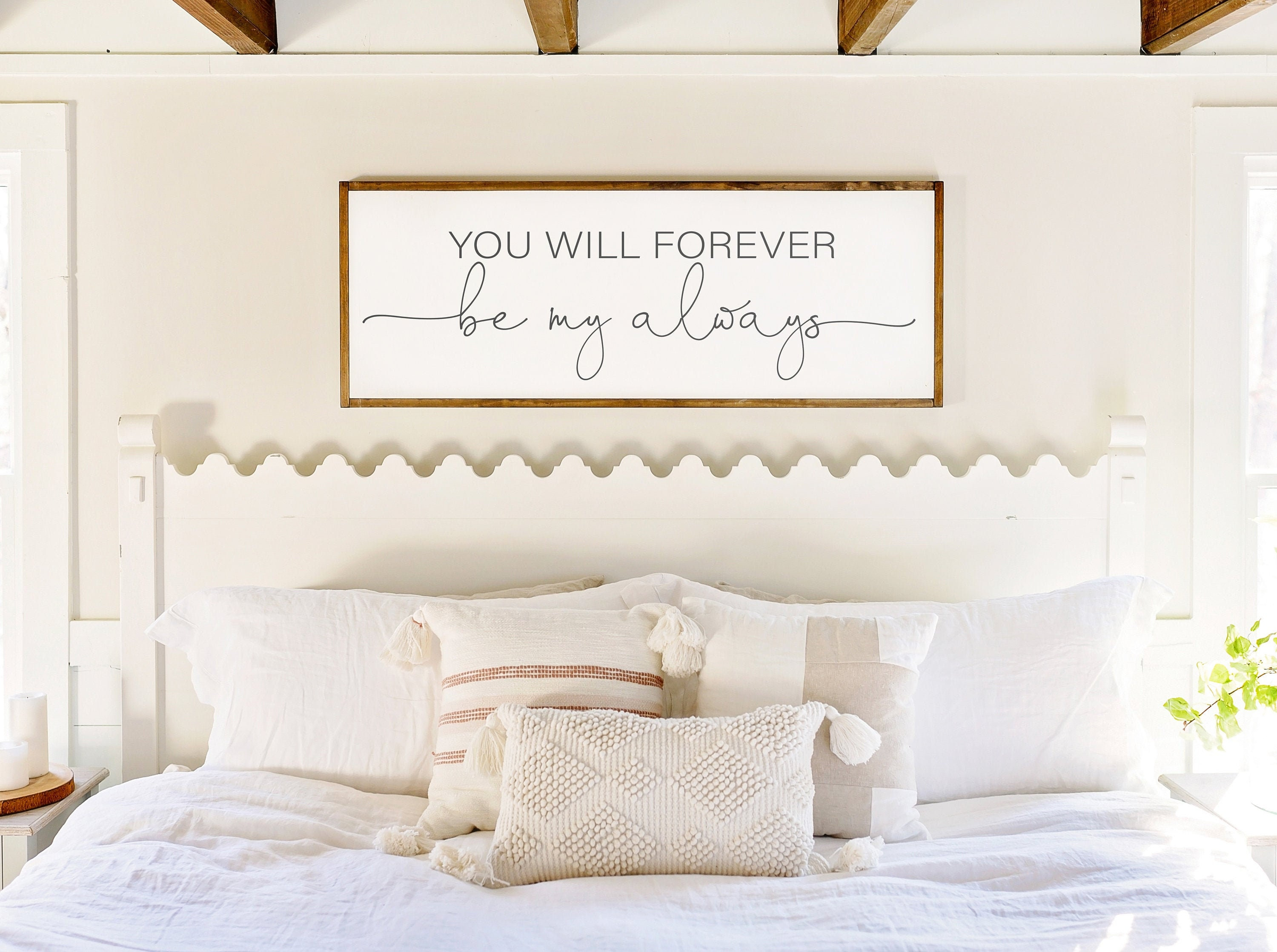 Bedroom Wall Decor  Sign for Above Bed  You Will Forever be My Always  Wood Sign  Master Bedroom Wall Decor  Above Bed Signs