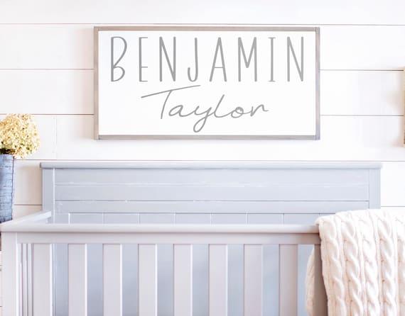 Nursery Name Sign  Baby Name Sign  Nursery Name Sign Wood