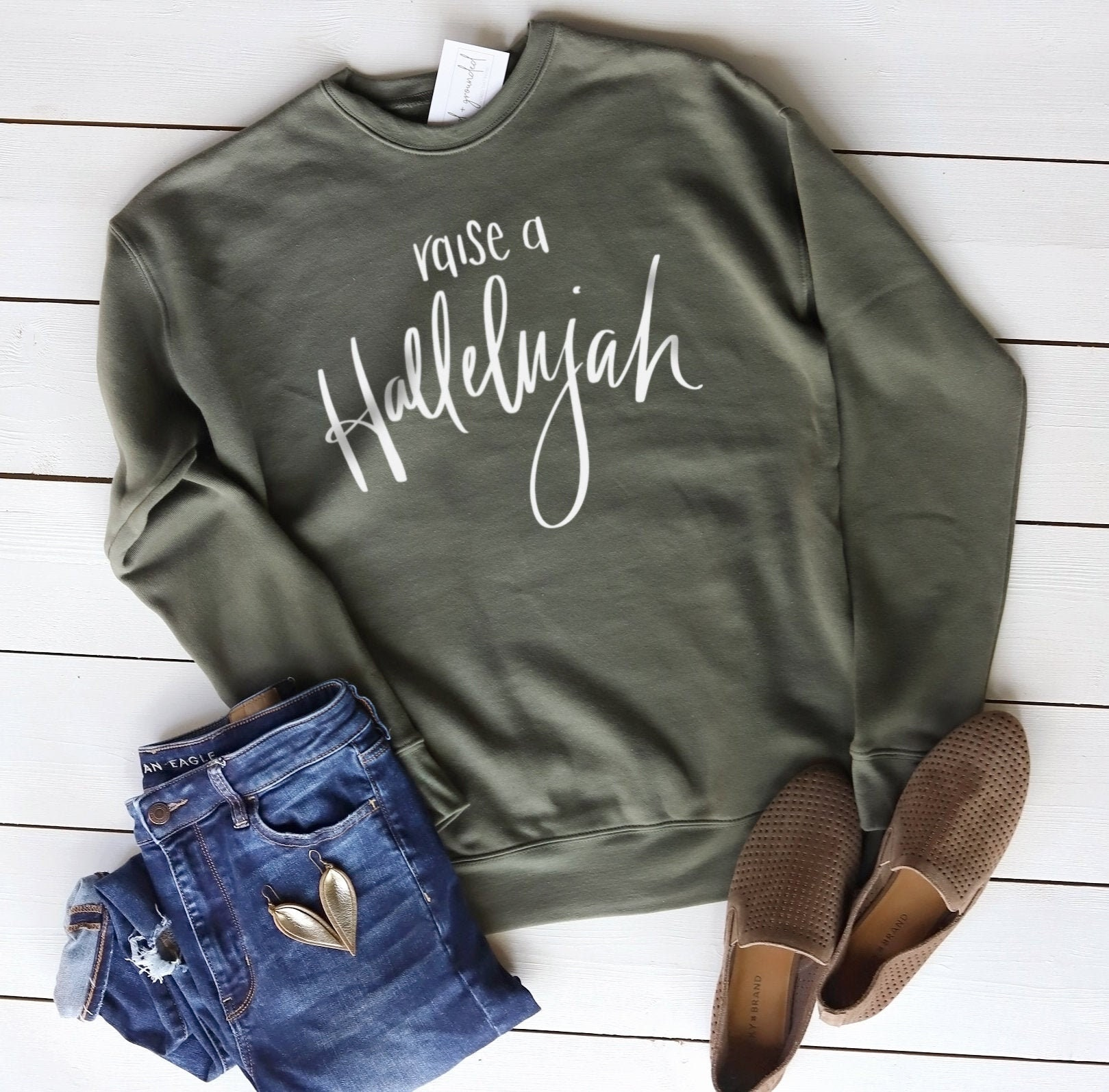 Raise A Hallelujah Sweatshirt Christian Clothing Womens Christian Sweatshirt Womens Christian Shirts Hallelujah Shirt Hoodie Tshirt
