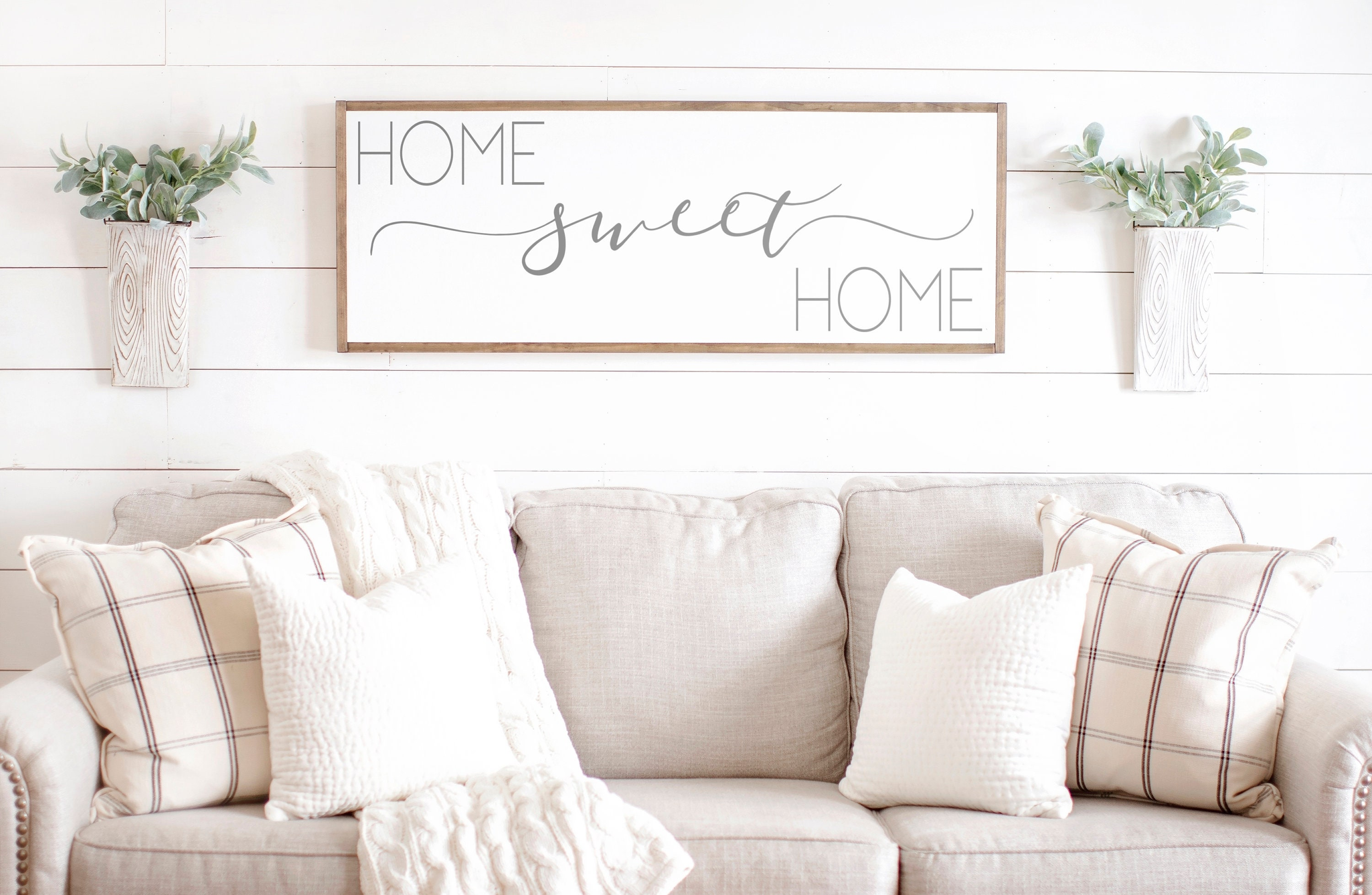 Home Sweet Home Sign Couch Sign Couch Decor