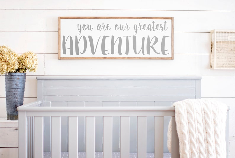 c65ef8f9c You Are Our Greatest Adventure Sign Greatest Adventure Wood   Etsy