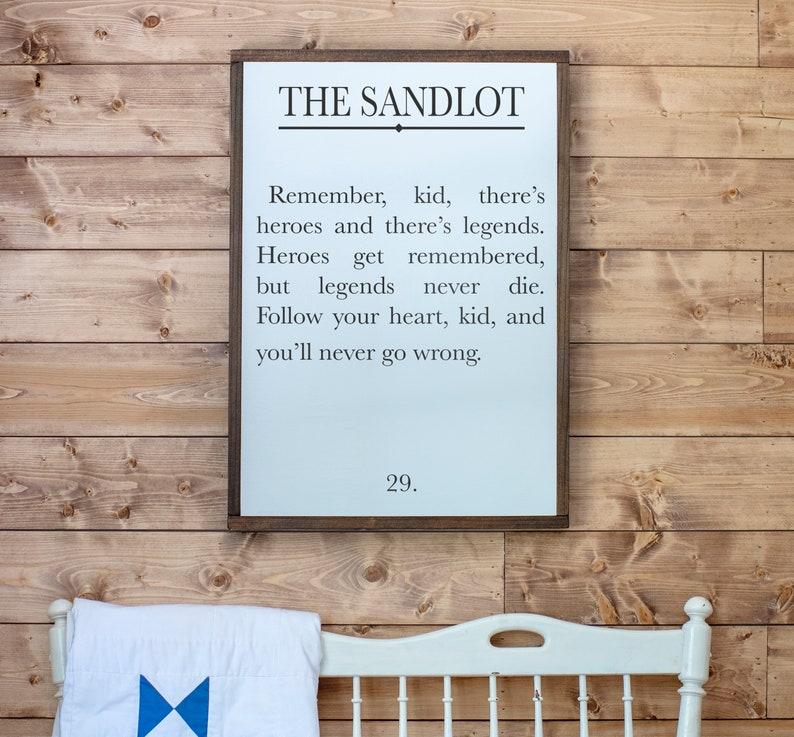 e26739e0fa3e2 Boys Room Signs Sandlot Quote Sign Book Page Sign Boys | Etsy