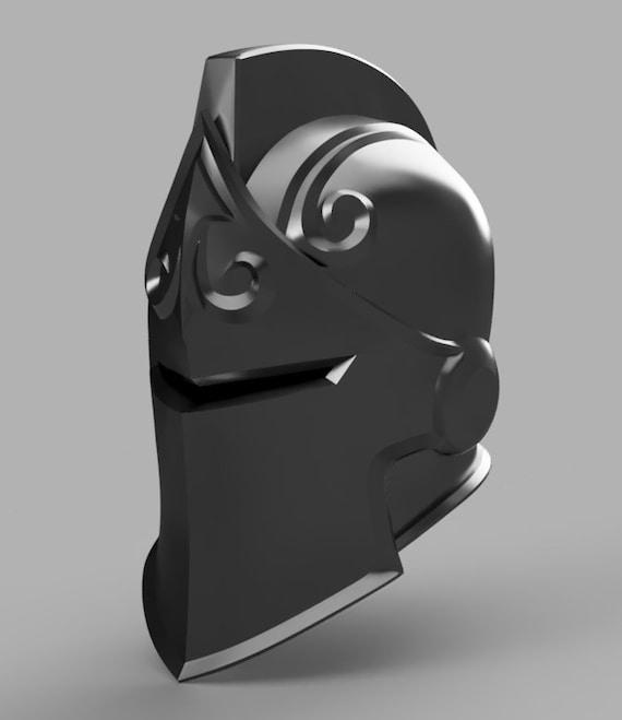 Schwarze Ritter Helm 3d Modell Stl Datei Etsy