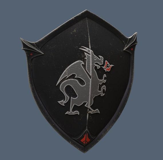 Black Knight Shield 3d Model Stl File Etsy