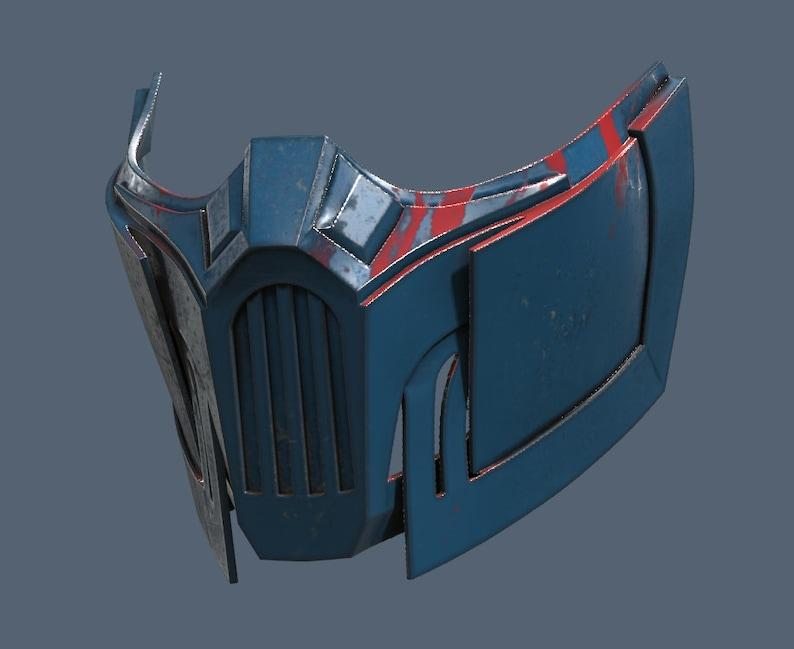 MK 11 Sub Zero Mask 3D Model STL Files