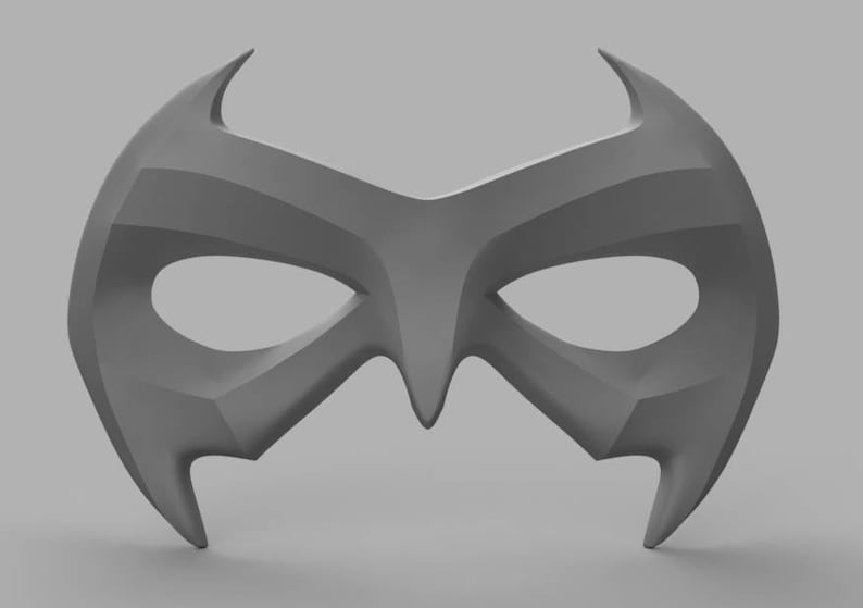 Nightwing Chest Armor with Free Mask 3D Model STL Files