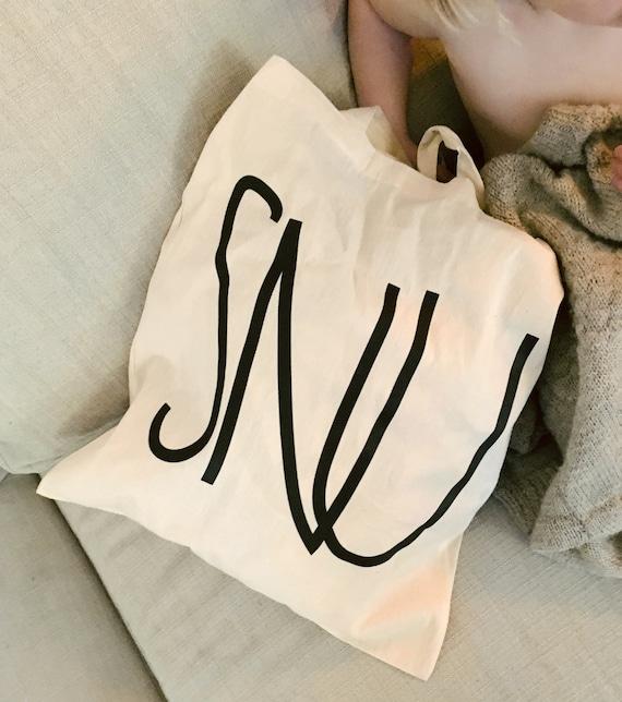 SNU-Cabas, coton issu du commerce équitable avec un design graphique / / SNU-mulepose je bomuld issu du commerce équitable