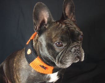 Halloween dog collar - Halloween dog - Halloween pets - Halloween - Dog clothes - Dog scarf - Dog collar soft - Dog scarves  - Knits dog