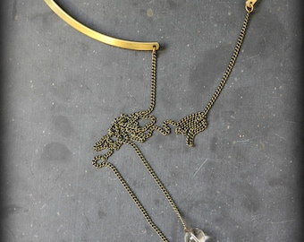 """Necklace """"The contortionist"""" to wear also in the back"""