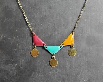 """Necklace """"Confetti"""" triangle flags"""