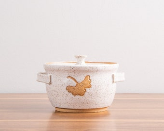 White Handmade Ceramic Soup Crock   Covered Mini Casserole   Lidded Stoneware Bakeware  Ceramic Cookware  Onion Soup Crock  IN STOCK