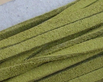 2 meters of cordon imitation suede 2 m - olive green